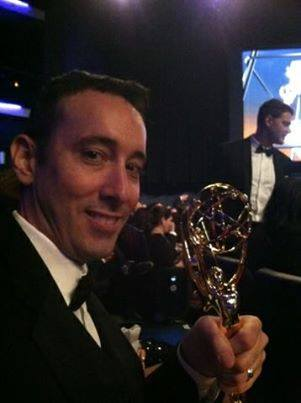 Keith Dinielli '90 Suffolk County Community College alumnus with 2013 Emmy Award