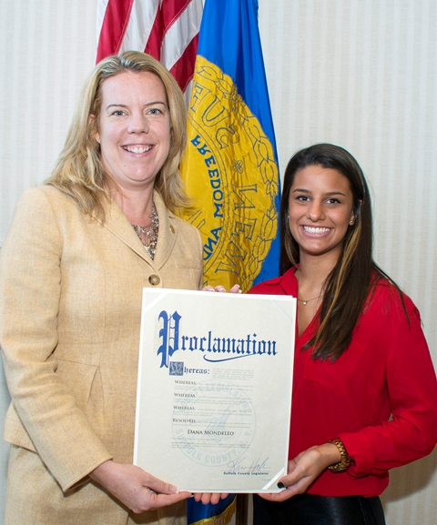 (L to R)  Legislator Kara Hahn (5th District) and Dana Mondello