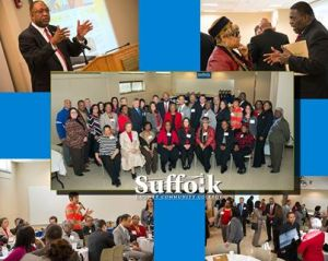 Community leaders breakfast at the Workforce Development Training Center on the Michael J. Grant Campus on February 7.