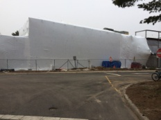 The New Life and Science Building under construction.