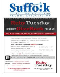 SCCC Alumni Assoc Hunger for Knowledge Ruby Tuesday 2014_03 Selden