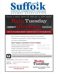 SCCC Alumni Assoc Hunger for Knowledge Ruby Tuesday 2014_10 Selden