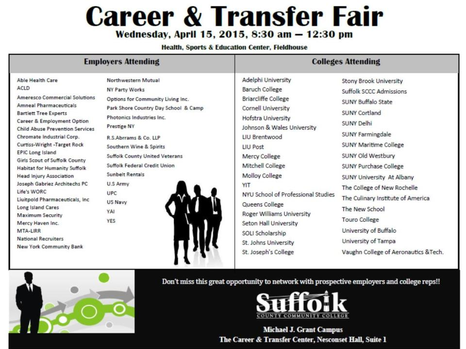 Career and Transfer Fair Brentwood 2015-04-15 Employers