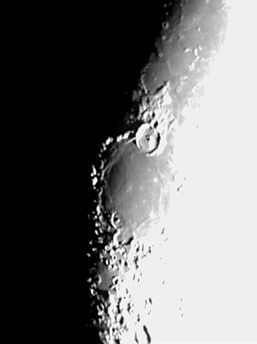 The Moon. Mare Humorum, with the crater Gassendi at its southern border.