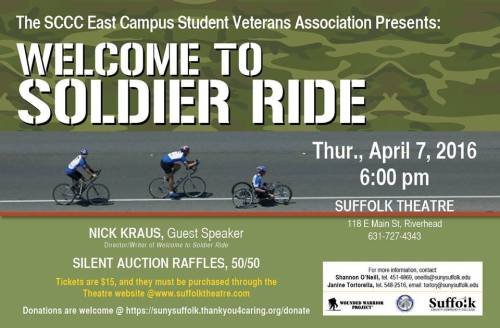 Welcome To Soldier Ride 2016-4-7