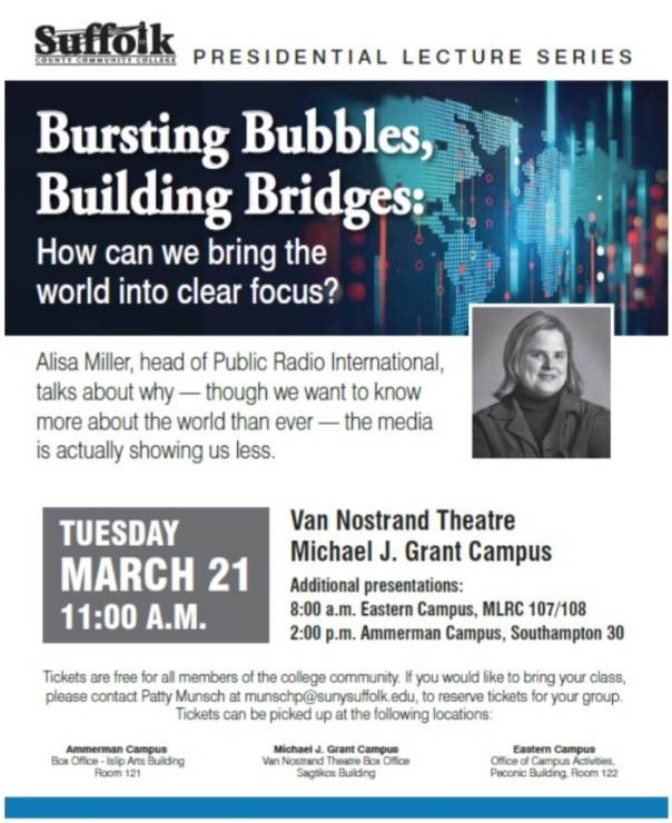 SCCC Presidential Lecture Series 2017-3-13