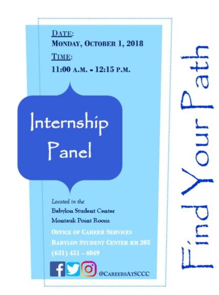Internship Panel 2018-10-1